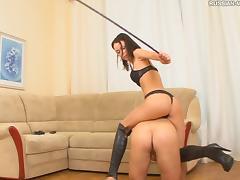 Remarkable foot fetish bimbo spanking her guy lovely indoors
