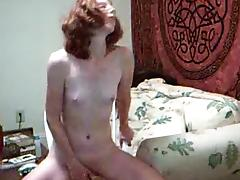 Petite Redhead Peggy Does Anal Dildo to Orgasm porn tube video