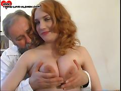 Experienced guy gives the gorgeous redhead a drilling that she needs