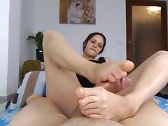Mega bestof Footjob IV porn tube video