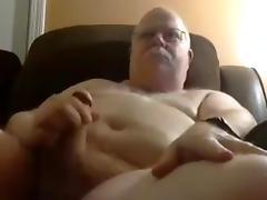 Grandpa cum on cam 12