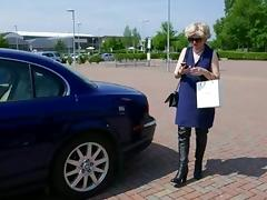 Public, Blowjob, Boots, Car, Mature, MILF