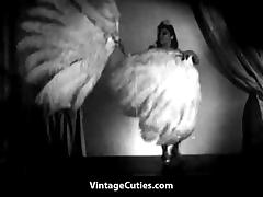 Asian Beauty Performs Naked Feather Dance (1940s Vintage) tube porn video