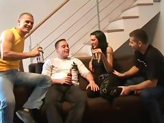 Banging, Banging, Creampie, Gangbang, German, Group