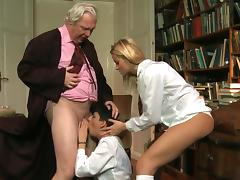 Naughty schoolgirls and lucky old bastard porn tube video