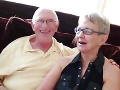 Granny   husband invite a junior stud to fuck her porn tube video