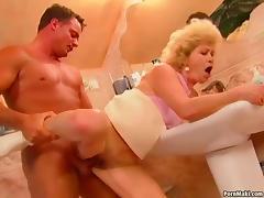 Granny Effie gets fucked in the bathroom