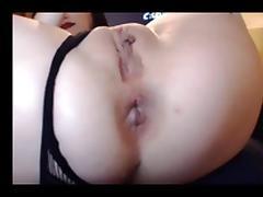 Anal Cam Whore - Cam girl fills her ass deep porn tube video