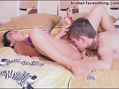 Dazzling Russian demanding more pussy licking in femdom sex indoor