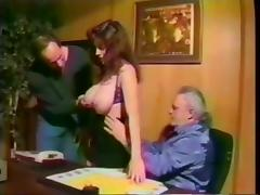 Jordan vintage tag-team porn tube video