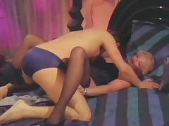 Vintage blonde chick enjoying the hard screwing with her best buddy