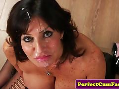 Cocksucking mature doc spunked on face porn tube video
