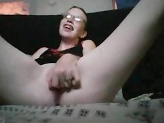Nerd feia na siririca tube porn video