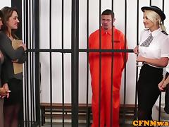 Brit dom CFNM police babe humiliate prisoner tube porn video