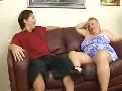Blond bbw suck and fuck tube porn video