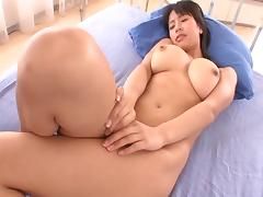 Slutty Japanese tart with big tatas loves having her wet cunt drilled porn tube video