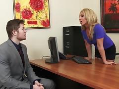 Sexy MILF Boss Stevie Lix Seduces Young Employee tube porn video