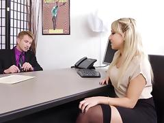 Juicy Ass Blond Secretary Valerie Exploited By Her Boss porn tube video
