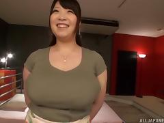 Chubby Asian tart with massive melons Shizuku Amayoshi gets rammed porn tube video