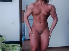 Blonde, Blonde, Flexible, Muscle, Small Tits, Bodybuilder