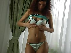 Curly-haired Russian girl Anita finally reveals her perfect buttocks porn tube video