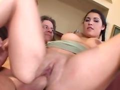 Latina, Big Tits, Blowjob, Cumshot, Facial, Latina