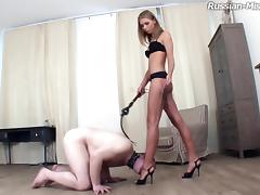 Abby decides to put a hot cigarette on the tongue of her poor servant