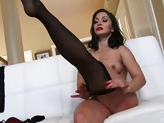Lea Lexus is once again bouncing on the cock of a black guy!