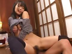Luscious Oriental hussy enjoys having dicks in her hirsute twat