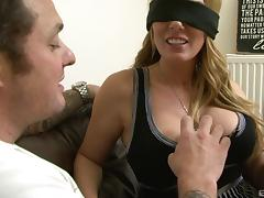 Blindfolded sex goddess called Antonia rides the dick like a pro