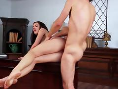 Lana Rhoades fucked in the office by man with large dick porn tube video
