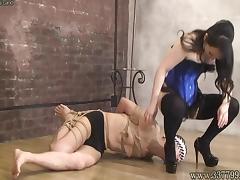 Masochist man go is captive of bondage Mistress Land porn tube video