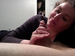 Pov amateur blowjob to a nerd guy tube porn video