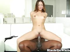 Pornstar Sara Luvv loving BBC in her pussy