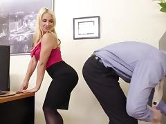 Busty Blond Boss Sarah Vandella Seduces Young Employee tube porn video