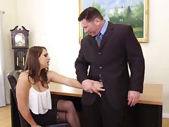 Naive College Hottie Sara Luvv Exploited By Older Man