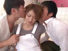 Wild porn show in group with insolent Reina Oomori