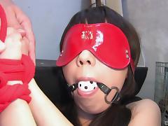 A pretty painful threesome session for the kinky babe Maho Sawai
