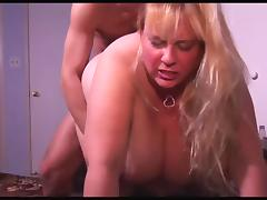 Blonde bbw gets plowed fireside