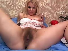 Webcam, Blonde, Hairy, Masturbation, Sex, Solo