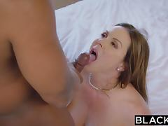 BLACKED Hot Trophy Wife Fucks BBC in Husband's Bed porn tube video