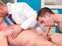Johnny Ryder & Dylan Knight & Hans Berlin in My Doctor Rocks Video
