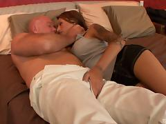Bald guy provides the sexy Gia with the much-needed missionary poking porn tube video