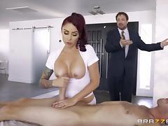 Husband, Big Tits, Brunette, Husband, MILF, Pussy