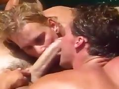 Hot threesome with a mature man