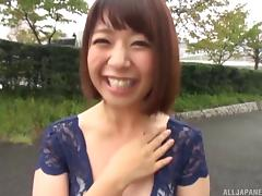 Her name is Wakaba Onoe and she'll definitely spread legs for the cock