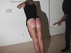 T gets a spanking porn tube video