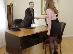 Pervy Boss Fucks Sexy Office Assistant Alice March porn tube video
