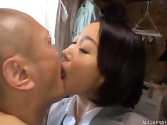 Vigorous missionary screwing for the cute Japanese lass Eri Ito tube porn video