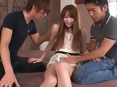 Ayaka Fujikita fucked by two hunks in dirty trio porn tube video